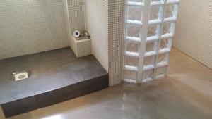 beton ciré douche italienne