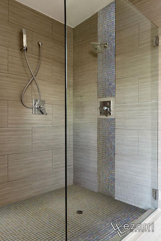 douche à l italienne en mosaique