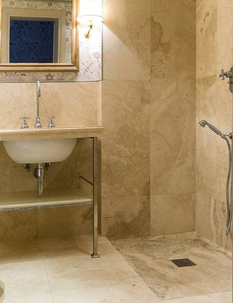 douche italienne travertin