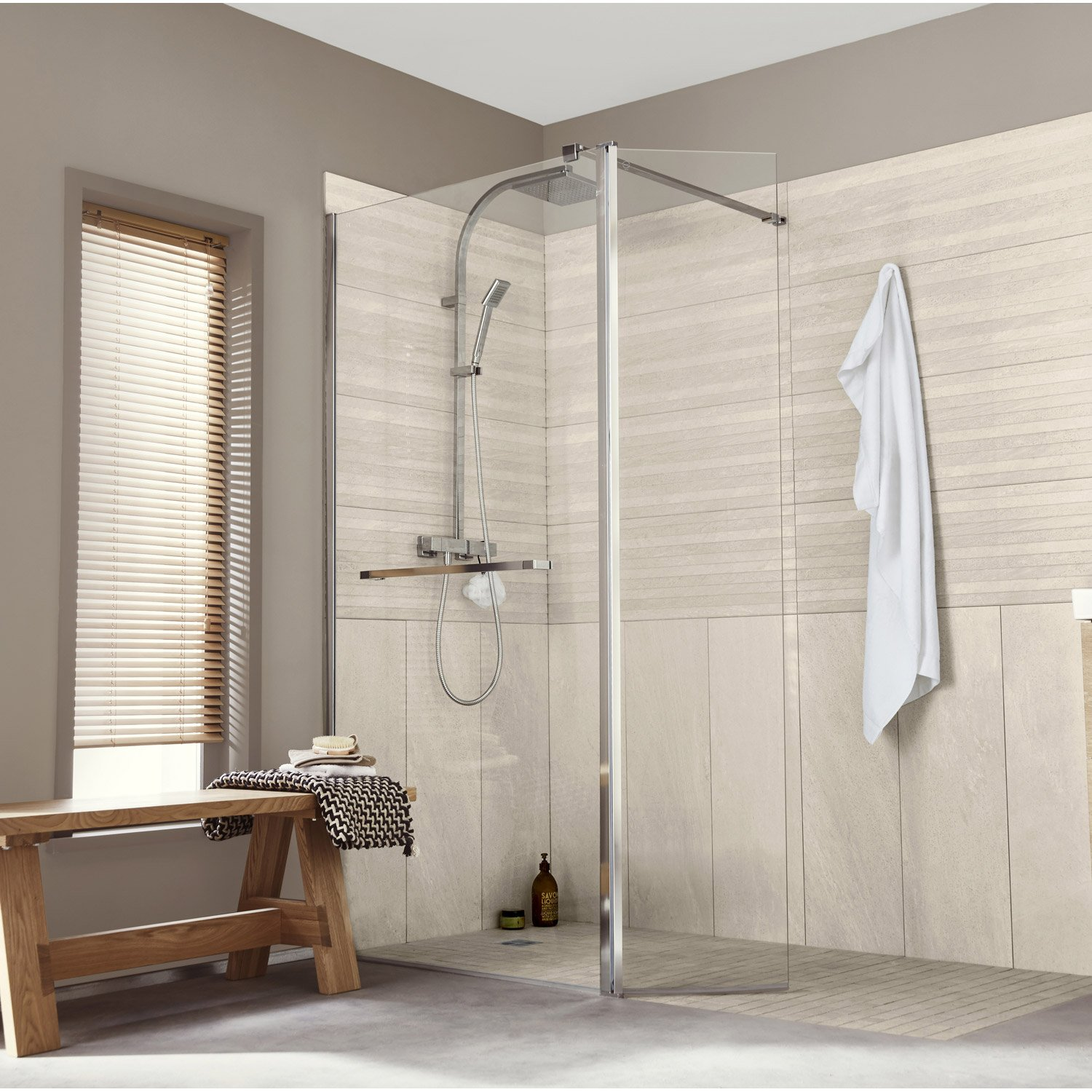 Revetement sol salle de bain leroy merlin for Carrelage douche italienne leroy merlin