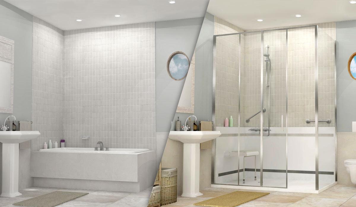 remplacer une baignoire par une douche à l italienne