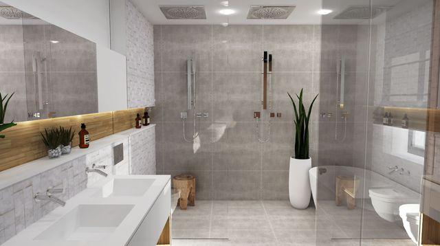 salle de bains avec douche italienne - Salle De Bains Italienne