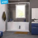 Transformer une baignoire en douche italienne