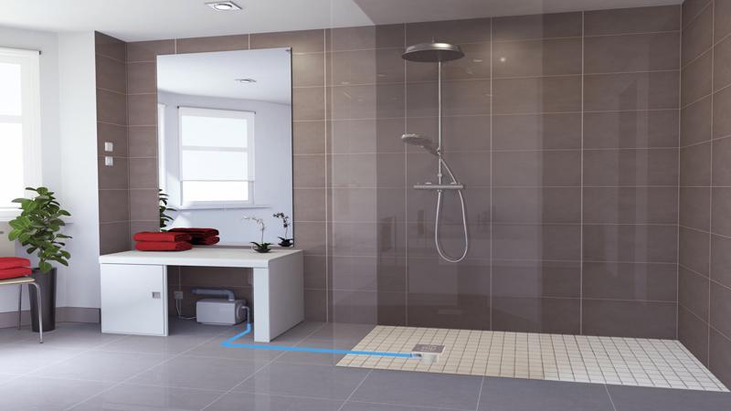 une douche italienne
